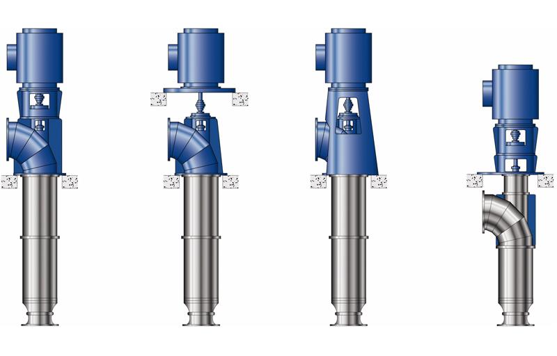 Installation types of tubular casing pumps
