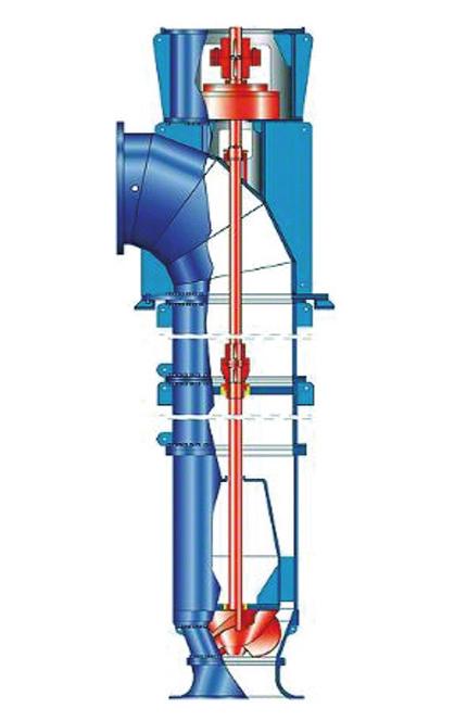 Propellerpumpe: Rohrgehäusepumpe mit halbaxialem Propeller
