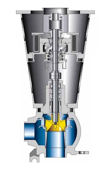 Reaktorpumpe: Reaktorkühlmittelpumpe mit Schwerlastgehäuse für Druckwasserreaktoren