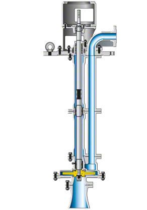 Liquefied gas pump: Vertical refinery pump