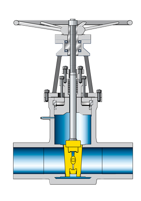 Valve: Gate valve with double disc wedge and butt weld ends