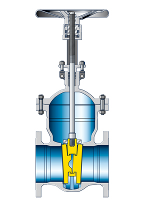 Valve: Flanged end gate valve with double disc wedge