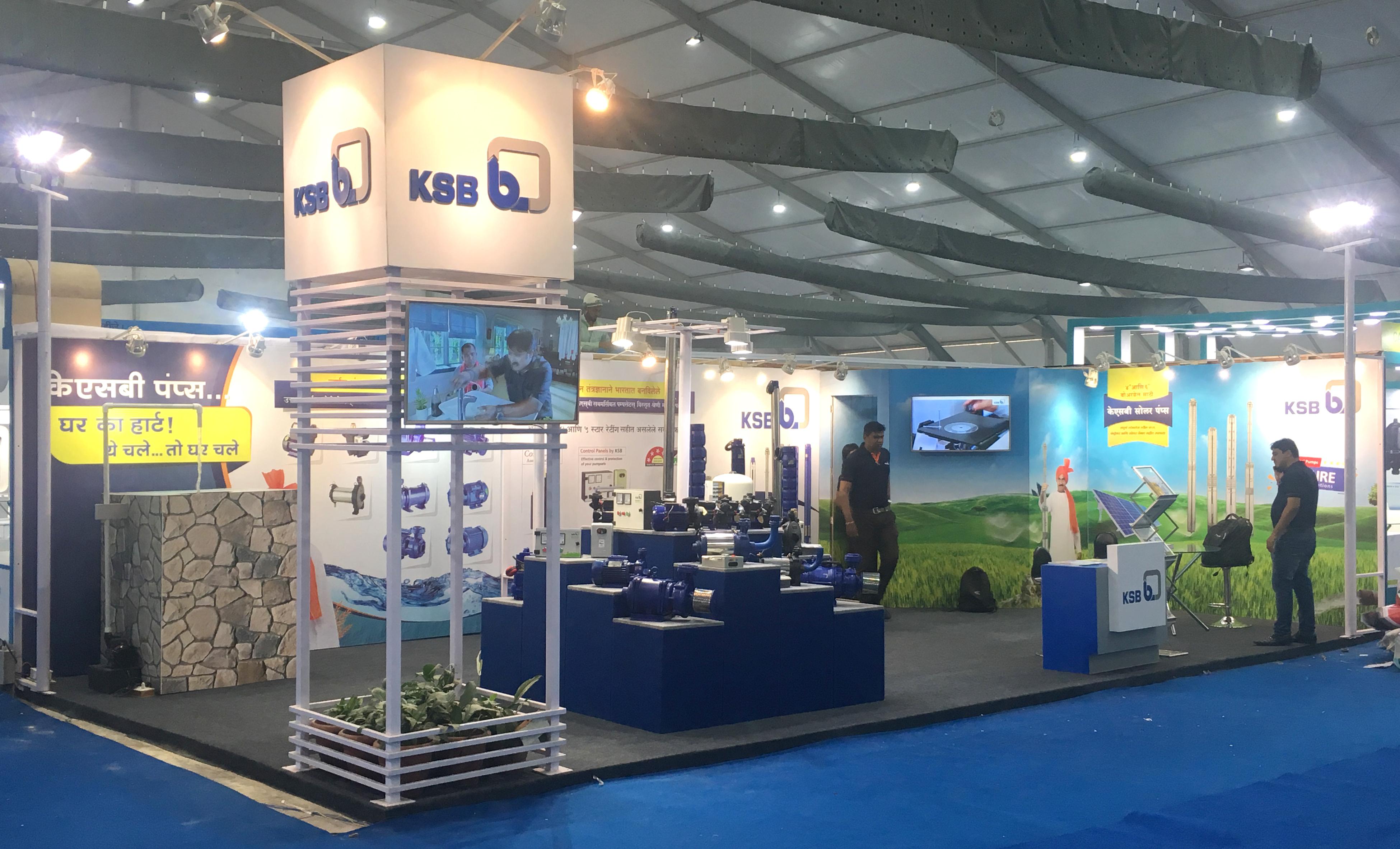 Exhibition Stall In Pune : Kisan 2018 in pune ksb
