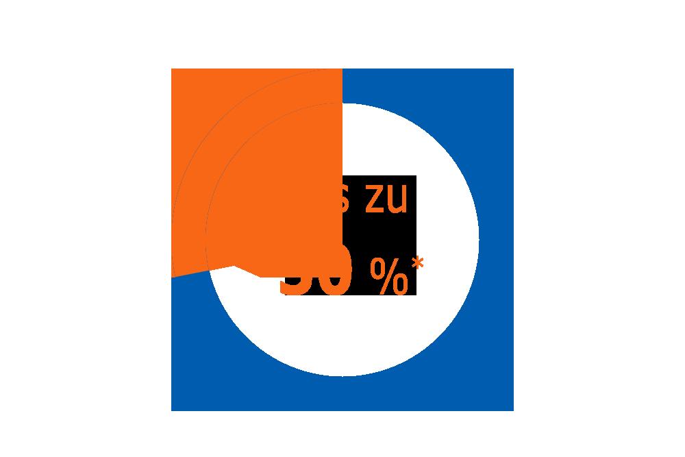 Grafik bis zu 30 Prozent sparen