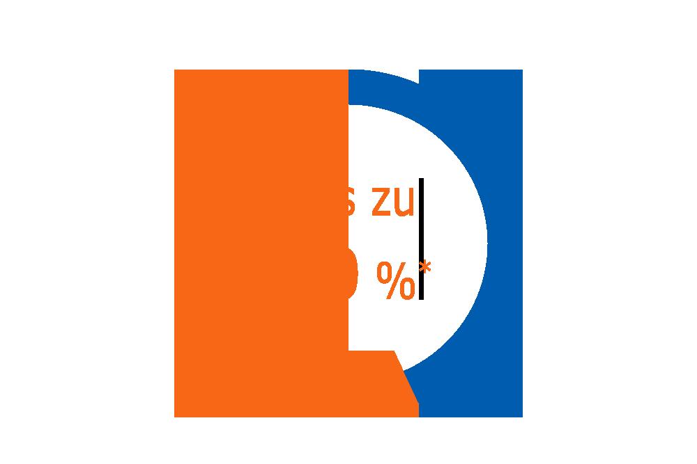 Grafik bis zu 60 Prozent sparen