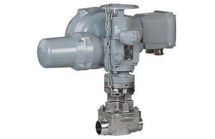 Valve with actuator for power generating stations
