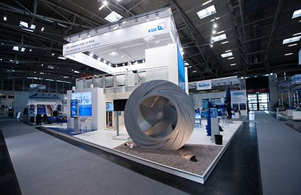 Impeller measuring 2.2 metres in diameter on display at IFAT in Munich