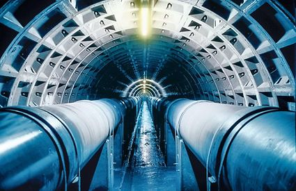 A sewer pipeline for waste water transport.