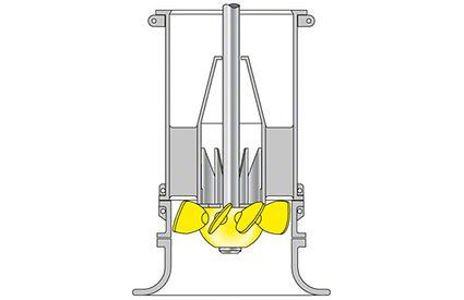 Pumpengehäuse: Rohrgehäusepumpe mit axialem Propeller (Schaufeln eingesetzt und verstellbar)