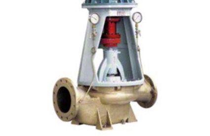 Pumpengehäuse: Quergeteilte, vertikale Spiralgehäusepumpe in Inline-Ausführung