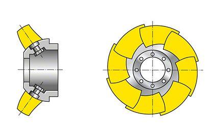 Laufrad: Halbaxialrad (halbaxialer Propeller)