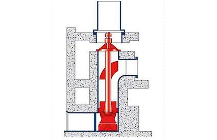 Kühlwasserpumpe: Beton-Rohrgehäusepumpe mit verstellbarem Halbaxialpropeller (herausziehbar)