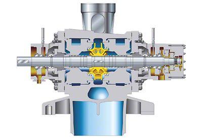 Kesselspeisepumpe: Zweiströmige Reaktor-Speisepumpe in Gussausführung