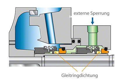 Wellendichtung: Zwei Gleitringdichtungen in Tandem-Ausführung