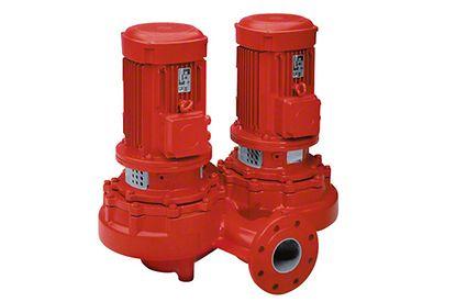 Inlinepumpe: Heizungsumwälzpumpe mit IEC-Motor in Zwillingsausführung