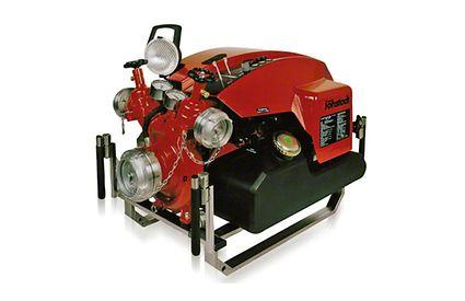 Feuerlöschpumpe: mobile Feuerlöschpumpe (Tragkraftspritze mit Wasserringpumpe zur Entlüftung)