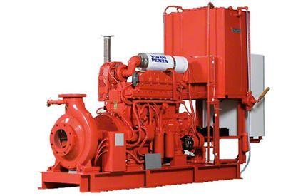 Stationäre Anlage mit Verbrennungsmotor