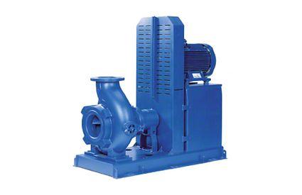 Abwasserpumpe: Horizontale Abwasserpumpe mit Keilriemenantrieb