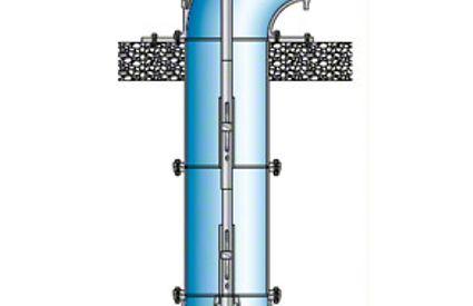 Bewässerungspumpe: Rohrgehäusepumpe mit Schraubenrad