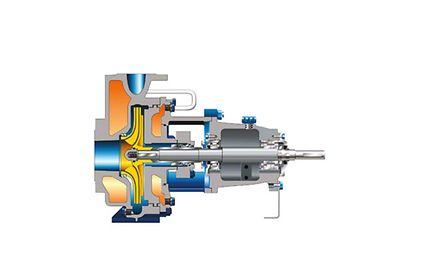 Chemiepumpe: Chemienormpumpe nach DIN 24 256 und ISO 2858