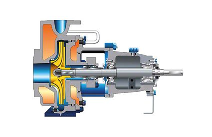 Pump casing: Standardised chemical pump with heating jacket on suction and discharge sides
