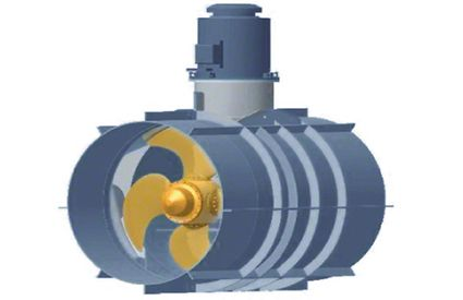 Transverse thruster: Compact unit for installation in the transverse channel from above