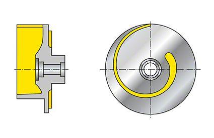Impeller: Open single-vane impeller