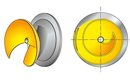 Impeller: Open, diagonal single-vane impeller (D impeller)