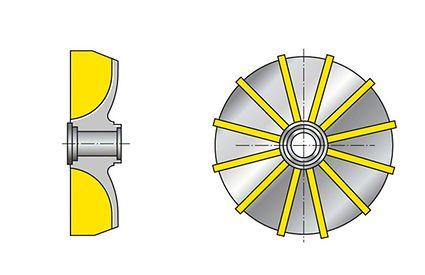 Impeller: Free-flow impeller