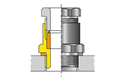 Cable gland: Design to DIN 46255 (line gland packing)