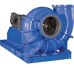 Flue gas desulphurisation system: Absorber circulating pump with channel impeller and CPS (CeramicPolySiC) lining