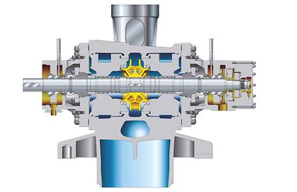 Boiler feed pump: Double-suction reactor feed pump made of cast iron