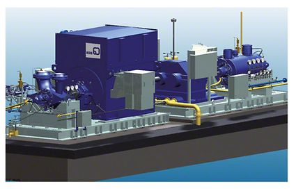Boiler feed pump: Model with VP-EM-RG-HP layout