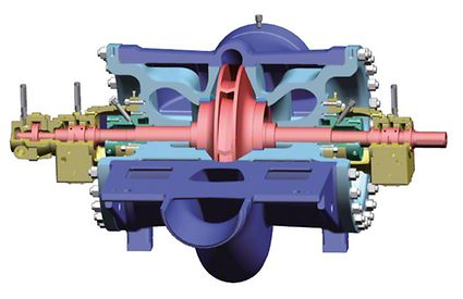 Boiler feed pump: Double-suction boiler feed booster pump