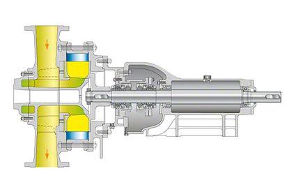 Water ring pump: Liquid ring compressor (chlorine gas compressor)