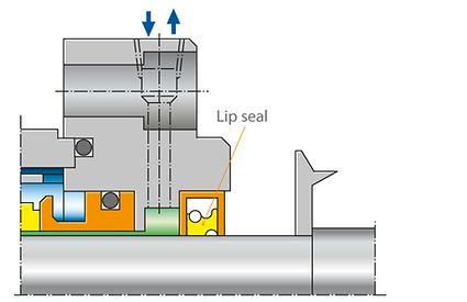 Shaft seal: Lip seal