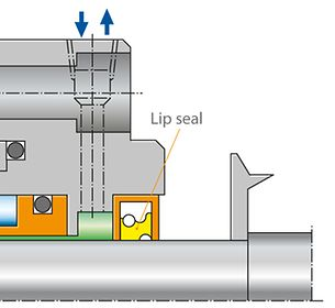 Shaft seal: Lip seal
