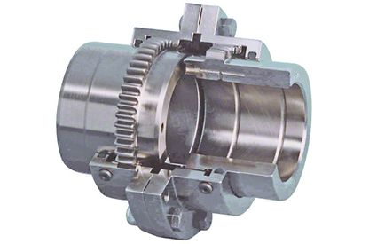 Shaft coupling: Curved-tooth gear coupling