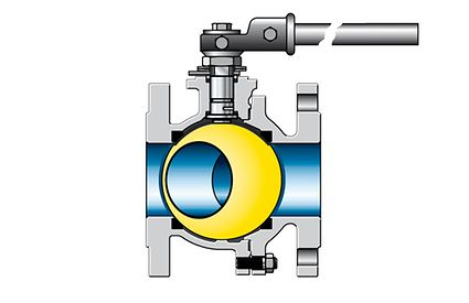 Valve: Two-piece ball valve