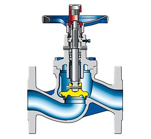 Valve: Globe valve, stem sealed by bellows
