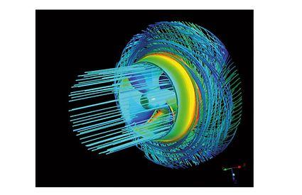 Computational Fluid Dynamics: Visualisierung der Laufradströmung mit Stromlinien (CFD-Simulation)