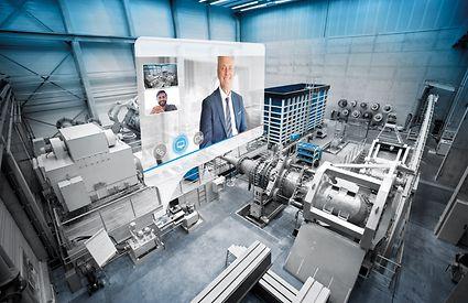 Испытательный стенд на заводе KSB в г.Галле (Германия)