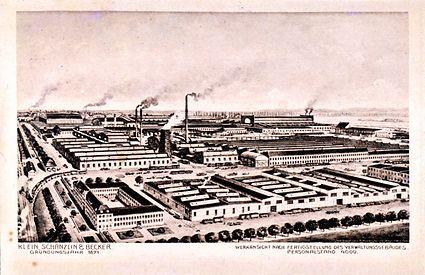 Историческая хроника – завод KSB прибл. в 1880 г.