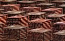 Stacks of copper, post mineral processing