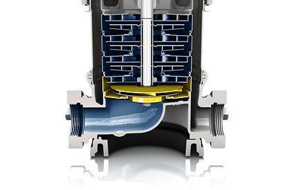 Оптимизированное рабочее колесо существенно улучшает характеристики всасывания насосов (значение NPSH).