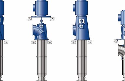 Installation types of tubular casing pumps