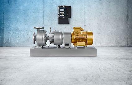 The new HPK-L as high-efficiency model equipped with KSB SuPremE® motor and wall-mounted PumpDrive