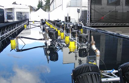 A mobile water show with Ama Drainer 522 pumps.