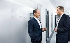 Il Dr. Stephan Timmermann insieme a Rainer Michalik